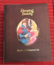 Disney Sleeping Beauty Storybook Christmas Collection Ornament Set Read