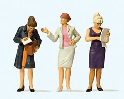 Preiser G 122.5 Scale Three Standing Women In The Office Figures 44907
