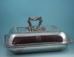 1850 Sterling Silver Covered Entrandeacutee Dish 65 Ounces James Dixon And Son Sheffield