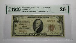 10 1929 Manhasset New York Ny National Currency Bank Note Bill Ch. 11924 Vf20