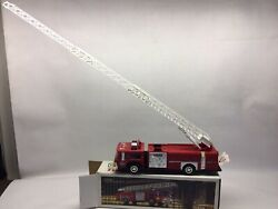 1986 Hess Toy Fire Truck Bank In Box With Gold Grill
