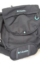 Columbia Gray Green Expandable Messenger Diaper Baby Bag Changing Pad EUC $25.99