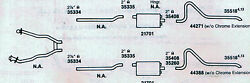 1972-1973 Mustang Dual Exhaust System 304 Stainless 351 Engines Only