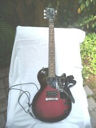 Vintage Maestro By Gibson Solid Body Electric Guitar Fuchsia And Black + Hard-case