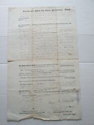 One 1 14th March 1848 Deed For Kennebunk Maine Land, Littlefield To Emery