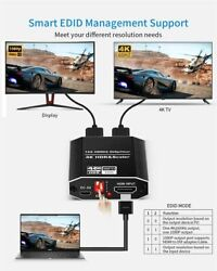 4k Uhd Hdmi Splitter 2.0 1x2 Hdcp 2.2 Hdr For Switcher Out Converter Adapter