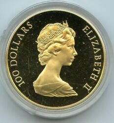 1982 Canada Constitution 100 Dollars Commemorative Gold Coin Gary 12/28/20 Gp