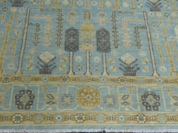 8and039x10and039 Luxurious New Blu Hand Knotted Wool Pak Peshawar Tabrizz Tree Of Life Rug