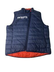 Nike New England Patriots Full Zip Insulated Reversible Puffer Vest Red Blue Xl