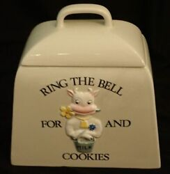 Vintage 1979 Bsj Buttercup Shafford Ring The Bell For Milk And Cookies Jar Cow
