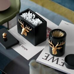 Toothpick Holder Table Storage Box Deer Head Craft Dispenser Container Boxes