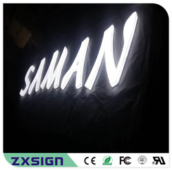 Custom Outdoor Advertising Front Lit And Side Lit Full Acrylic Led Letter Sign