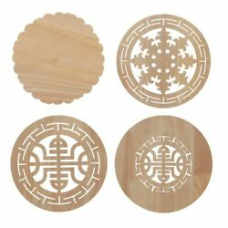 Exquisite Flower Carved Wood Decals Inlay Applique For Home Furniture Decoration