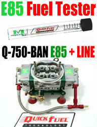 Quick Fuel Q-750-e85 Ban Annular Mech Blow Thru With 6 Line Kit Free Test Tube