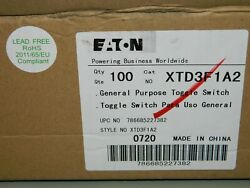 Lot Of 100 New Eaton Xtd3f1a2 Momentary Toggle Switch Two Pole Spst 20 Amp Ac/dc
