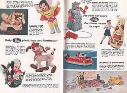 Ideal Toys 1957 Christmas Catalog Feature Shirley Temple Doll Roy Rogers Wagon +