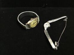 Two Vintage Watches For Parts/repair-elgin Ladies Gold Filled-westclox