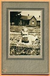 Princeton, In, Portrait Of Toddler In Yard, By Shubart, Circa 1910