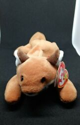 Rare Mint 1996 Ty Beanie Sly The Fox With Pvc Pellets And Tag Errors