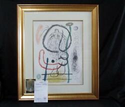 Rare Hand Signed Joan Miro Lithograph On Arches Signed And Numbered Ltd Ed.of 75
