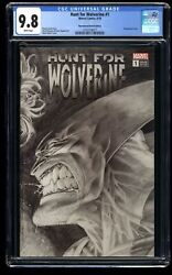 Hunt For Wolverine 1 Cgc Nm/m 9.8 Remastered Sketch Variant Cover 1000