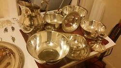 Antique Silver Plated Bowls/plates