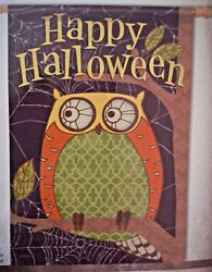 Beautiful Large Double Sided Flag Owl Happy Halloween 28 X 40 By Carson