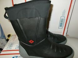 New Mens Size 9.5 Black Sperry Top Sider Cutwater Heavyweather Rain Winter Boots