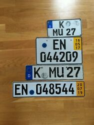 Collection Of 4 All Sizes Genuine German Number Plate Us Size License Set Real