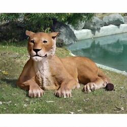 Katlot The Grand-scale Wildlife Animal Collection Lioness Lying Down Statue