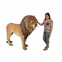 Katlot Life-size King Of The Lions Garden Statue