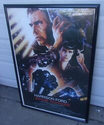 Vintage Blade Runner Poster The Ladd Company 1982 25 1/2 X 38 1/2 Inches Framed