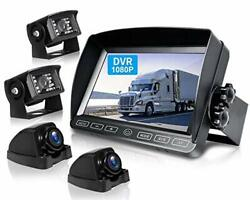 Wired Backup Camera Kit 7and039and039 Dvr Quad Split Monitor With Touch Button Hd