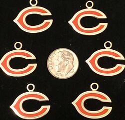 Wholesale Lot Of 12 Chicago Bears Logo Charms Great For Making Jewelry And Money