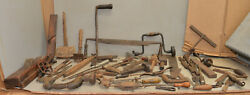 Pattern Maker Tool Lot Collectible Woodworking Antique Saw Brace Drawknife More