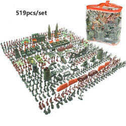 500pcs Army Base Set Wwii 4cm Army Men Action Figures And Accessories Playset