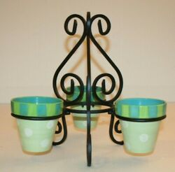 Southern Living At Home Gail Pittman Provence Pots And Wrought Iron Planter