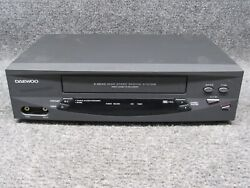 Daewoo Dv-t5dn 4-head Vcr Video Cassette Recorder Vhs Tape Player No Remote