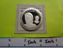 Edith Roosevelt Wife Of Teddy 1st Lady 2003 20 Liberia 999 Silver Coin Coa L-6