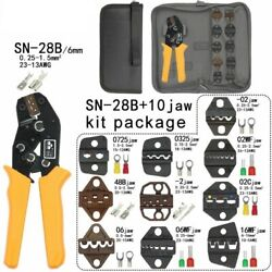 Sn-28b Crimping Pliers Tube Non Insulation Terminals Electrical Clamp Kit Tools