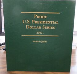 Us 1 Dollar Presidential Proof Coins 2007-16 Complete 39 Coins Littleton Album