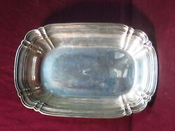 Sterling Wallace 6555 Chippendale Bowl 10 1/8 X 6 3/8x 2 3/4 325g No Mono