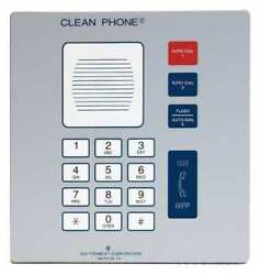 Hubbell Gai-tronics 295-001f Cleanroom Telephone, Cordless, Color Gray