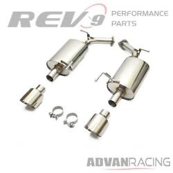 Flowmaxx Stainless Steel Axle-back Sports Exhaust Kit For M37 M56 11-13 Y51