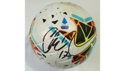 2019-20 Match Used Lazio Roma Serie A Nike Merlin Soccer Ball Signed By Immobile