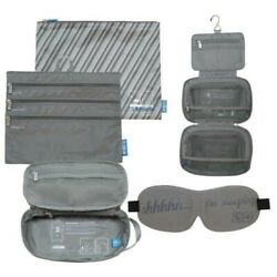 Flight 001 Cosmetic 4 Piece Travel Bag Set Gray $45.99