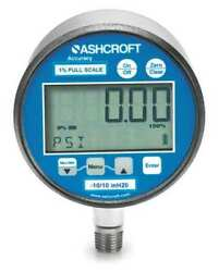 Ashcroft 302174sd02lxblbkvac/60 Digital Vacuum Gauge With Transmitter, -30 To 0