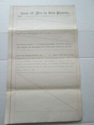 One 1 January 23rd 1896 Quit Deed For Lincolnville Maine Land, Hills To Hills