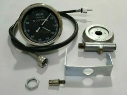 Smiths Replica 80 Mph Speedo Black+ Drive And 65 Inches Cable For Classic Bikes @