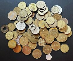 Lot Of 80x Assorted Amusement / Play Tokens